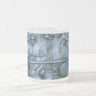 Placa de metal medieval taza de cristal