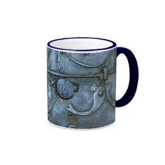 Placa de metal medieval taza de dos colores