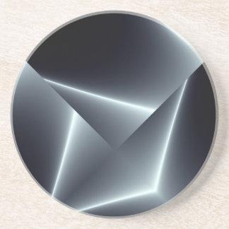Placa de metal negra posavasos para bebidas