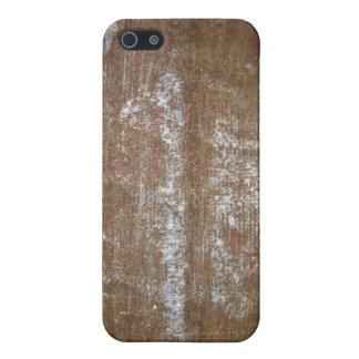 Placa de metal oxidada con los tornillos iPhone 5 carcasa