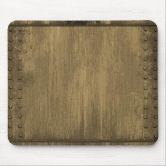placa de metal sucia clavada del oro tapete de ratón
