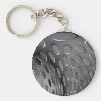 Placa de metal torcida llavero redondo tipo pin