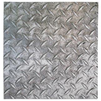 placa de metal vo1 del diamante servilleta imprimida