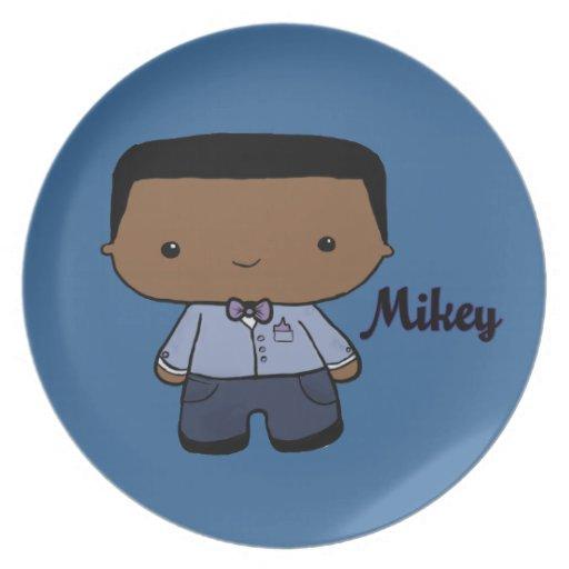 Placa de Mikey Platos Para Fiestas