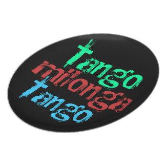 Placa de Milonga del tango Platos Para Fiestas