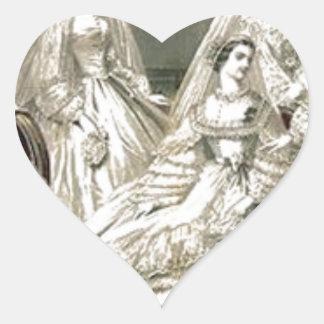 Placa de moda del Victorian del libro de las Pegatina En Forma De Corazón