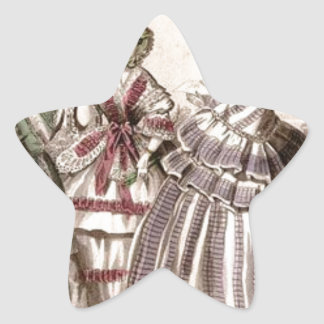 Placa de moda del Victorian del libro de las Pegatina En Forma De Estrella