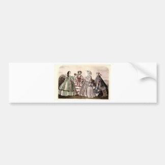 Placa de moda del Victorian del libro de las Pegatina Para Auto
