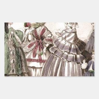 Placa de moda del Victorian del libro de las Pegatina Rectangular