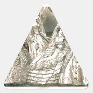 Placa de moda del Victorian del libro de las Pegatina Triangular