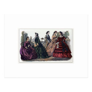 Placa de moda del Victorian del libro de las Postales