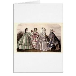 Placa de moda del Victorian del libro de las Tarjeta De Felicitación