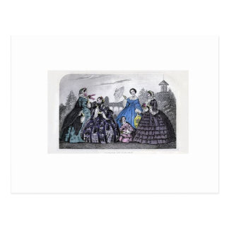 Placa de moda del Victorian del libro de las Tarjeta Postal