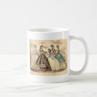 Placa de moda del Victorian del libro de las Taza