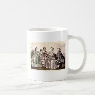 Placa de moda del Victorian del libro de las Taza Clásica
