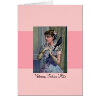 Placa de moda del Victorian Tarjeta De Felicitación