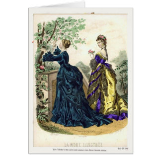 Placa de moda del Victorian Tarjeta Pequeña