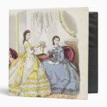 Placa de moda que muestra ballgowns