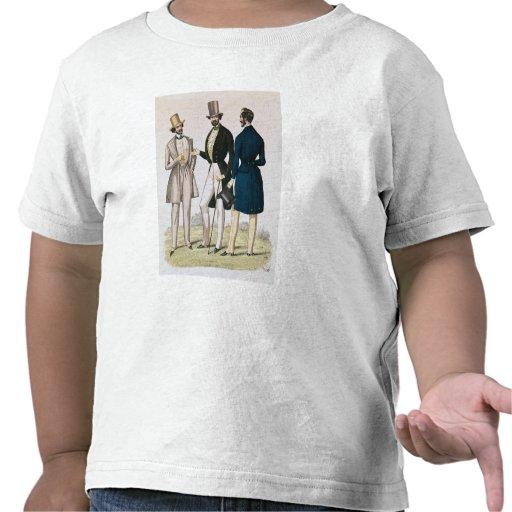 Placa de moda que representa la ropa masculina camiseta