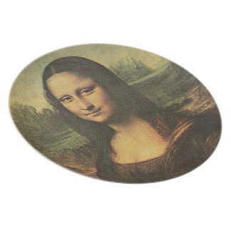 Placa de Mona Lisa Plato Para Fiesta
