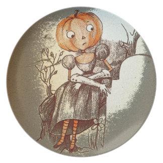 Placa de Mornful Clara Halloween Platos De Comidas
