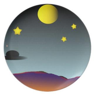 Placa de Nightsky Platos Para Fiestas