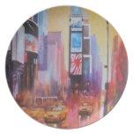 Placa de Nueva York del Times Square Platos De Comidas