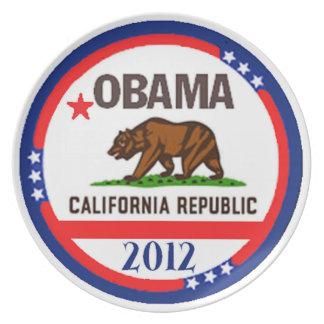 Placa de OBAMA CALIFORNIA Platos De Comidas