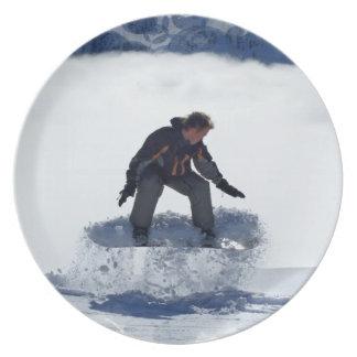 Placa de Ollie de la snowboard Platos Para Fiestas