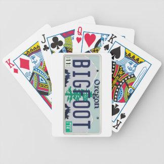 Placa de Oregon Bigfoot Baraja Cartas De Poker