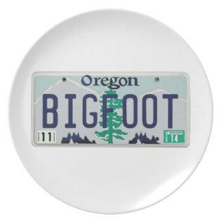 Placa de Oregon Bigfoot Plato Para Fiesta