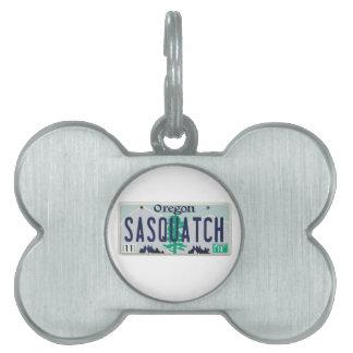 Placa de Oregon Sasquatch Placas Mascota