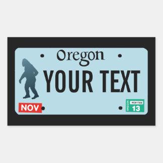 Placa de Oregon Sasquatch Pegatina Rectangular
