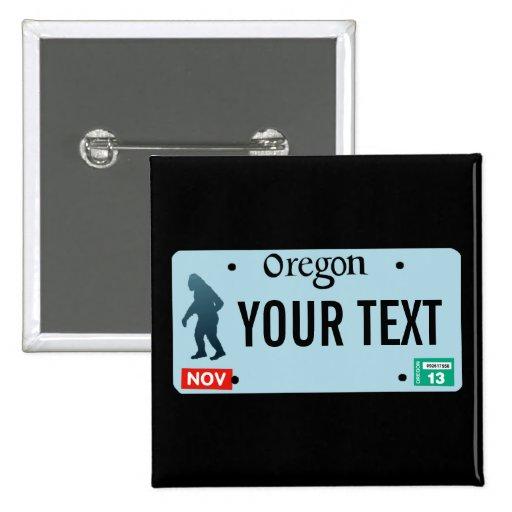 Placa de Oregon Sasquatch Pin Cuadrada 5 Cm