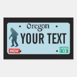Placa de Oregon Sasquatch Rectangular Altavoces