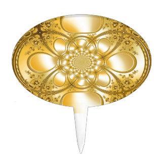 Placa de oro figuras de tarta