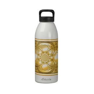 Placa de oro botellas de beber