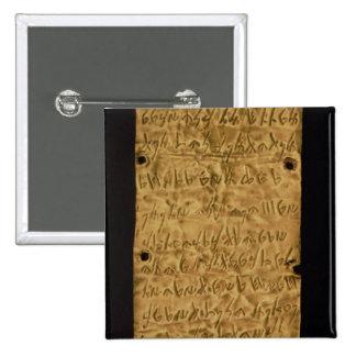 Placa de oro con la inscripción fenicia, de Santa Pin Cuadrado