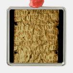"""Placa de oro con la inscripción """"muy larga"""" de ornamentos de reyes magos"""