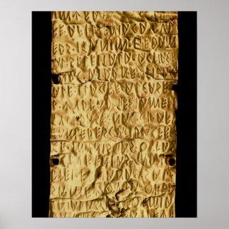 """Placa de oro con la inscripción """"muy larga"""" de Etr Poster"""