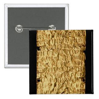 """Placa de oro con la inscripción """"muy larga"""" de Etr Pin Cuadrado"""