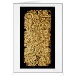 """Placa de oro con la inscripción """"muy larga"""" de Etr Tarjetón"""