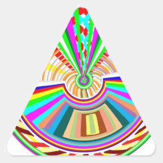 Placa de oro de Engaved + Premio de la joya floral Pegatina Triangular