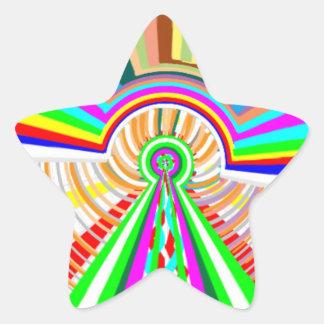 Placa de oro de Engaved + Premio de la joya floral Pegatina En Forma De Estrella