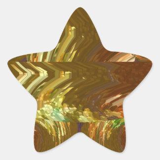 Placa de oro de Engaved + Premio de la joya floral Calcomanía Forma De Estrellae