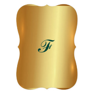 """Placa de oro, de oro, brillo, elegante, elegante, invitación 5"""" x 7"""""""