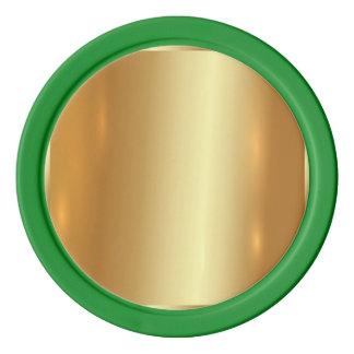 Placa de oro, de oro, brillo, elegante, elegante, juego de fichas de póquer