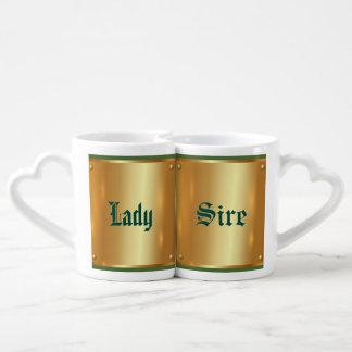 Placa de oro, de oro, brillo, elegante, elegante, tazas para parejas