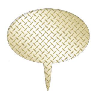 Placa de oro del diamante