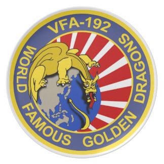 Placa de oro del dragón VFA-192 Platos